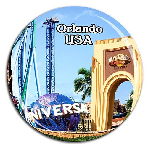 Universal Studios Florida Orlando America USA Fridge Magnet 3D Crystal Glass Tourist City Travel Souvenir Collection Gift Strong Refrigerator Sticker