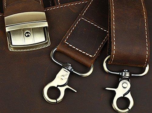 Leather para Piel al Crazy Camel de Horse Bolso hombre Insun hombro X74SvS