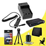 Halcyon Brand 600 mAH Charger with Car Charger Attachment Kit + Memory Card Wallet + SDHC Card USB Reader + Deluxe Starter Kit for Canon PowerShot ELPH SD1000 7.1 MP Digital Camera and Canon NB-4L