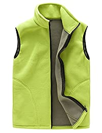 Womens Zip up Sleeveless Fleece Vest Solid Color Outfit Jacket with Pockets