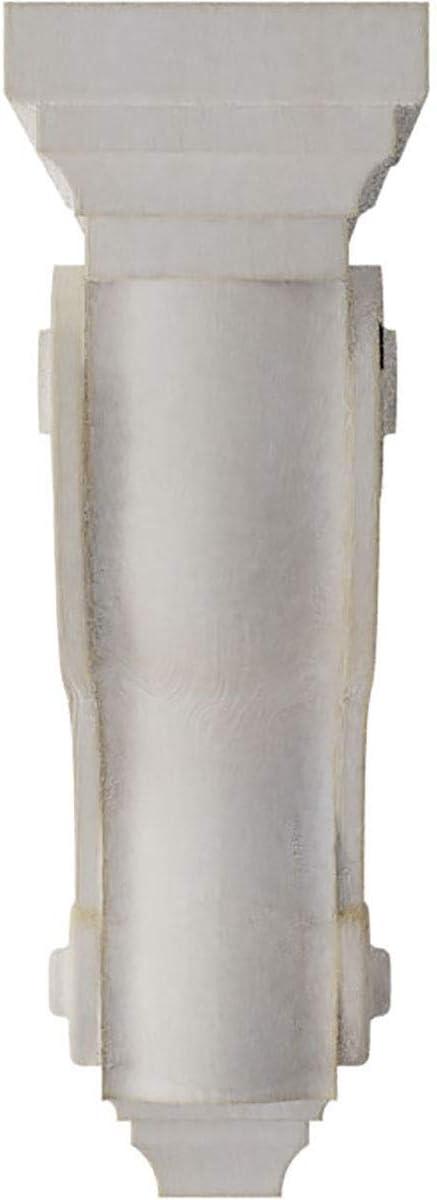 3 3//8W x 6 1//2D x 10 1//2H Chalk Dust White Ekena Millwork CORWD03X06X10TSWH Boston Traditional Scroll Vintage Decor Corbel