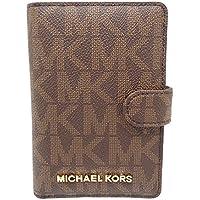 Michael Kors Jet Set Travel Passport Case Wallet Brown/Acorn 0089