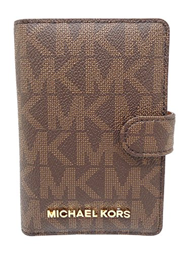 44ff1a1754ee Michael Kors Jet Set Travel Passport Case Wallet Brown Acorn 0089