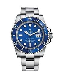 Rolex Submariner White Gold Watch Blue Dial 116619 Unworn 2016