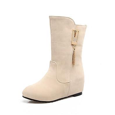 Womens Wedges Heighten Inside Velvet Lining Suede Boots SXC02587
