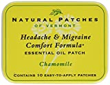 Natural Patches of Vermont Headache and Migraine Comfort Formula Essential Oil Body Patches, Chamomile, 2.6 Ounce