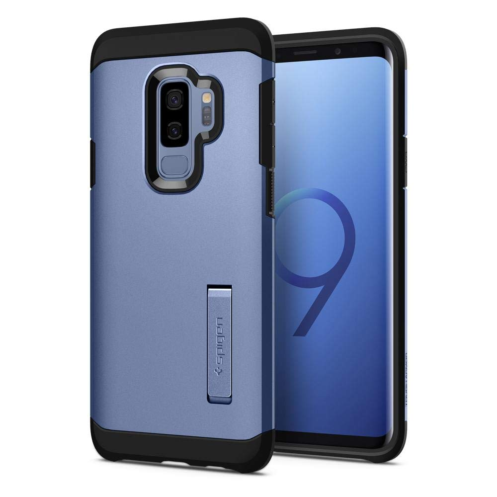 Galaxy S9 Plus Case Spigen Tough Armor with Kickstand - Reinforced Kickstand and Heavy Duty Protection and Air Cushion Technology for Samsung Galaxy S9 Plus (2018) - Black (SF) (SF) GSM036110