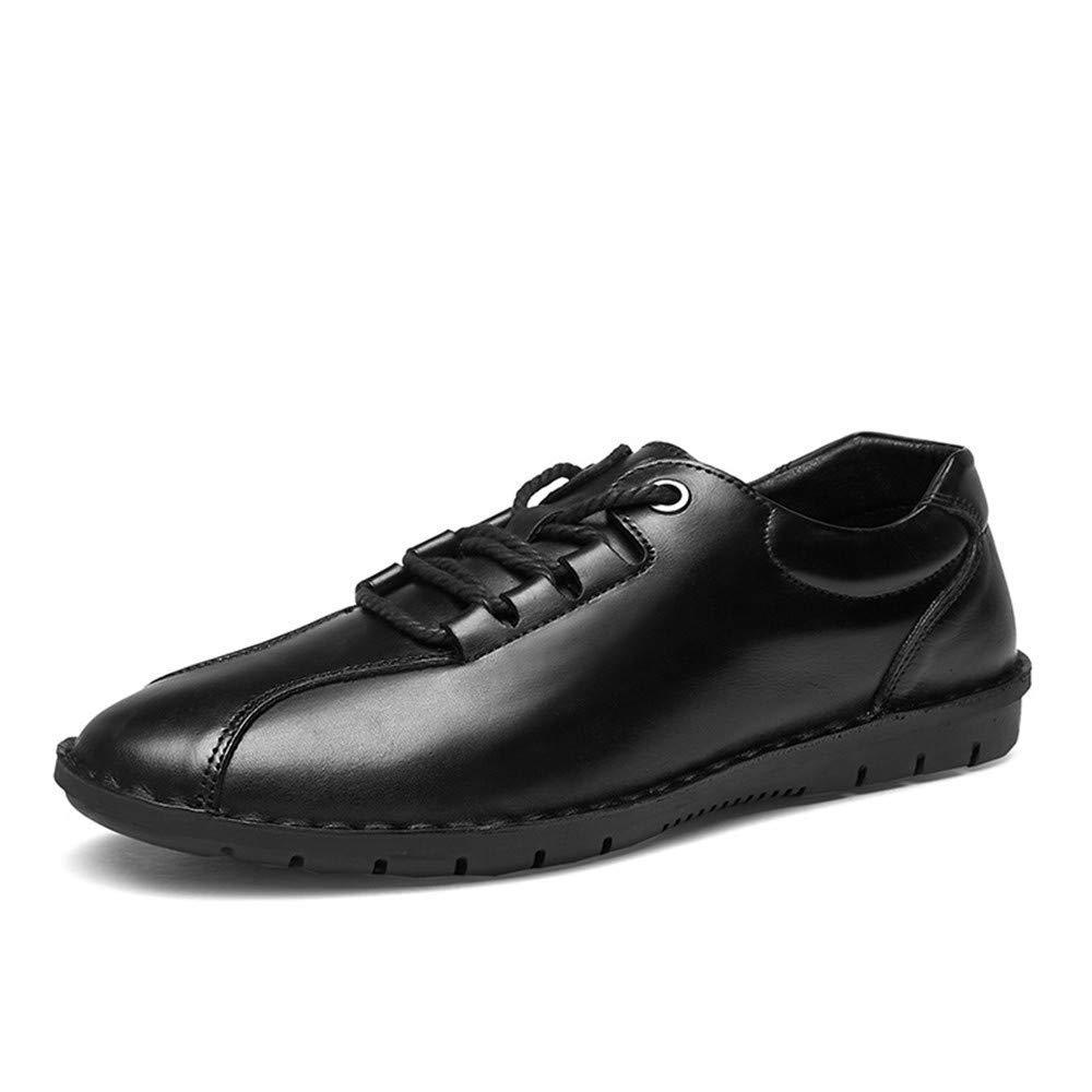 2018 Männer Oxford Einfache weiche britische Art mit Einer flachen beiläufigen beiläufigen Mode-formalen Schuhen (Farbe   Schwarz, Größe   43 EU) (Farbe   Schwarz, Größe   39 EU)