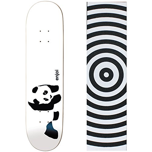 (Enjoi Skateboards WHITEY PANDA Deck Only skateboard Target GRIP)
