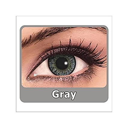 1b71abb889 Buy ARM Art Color Yearly Contact Lenses (2 Lens   Box) Zero Power (Gray)  Get One Pack Of Lens Solution Free Online at Low Prices in India - Amazon.in