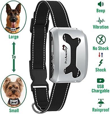 Anti Bark Shock Dog Trainer Stop Barking Pet Training Control Collar TBI