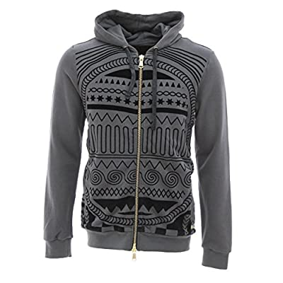 New Rich Gang Men's Tribal Zip Up French Terry Hoodie Sweatshirt for cheap