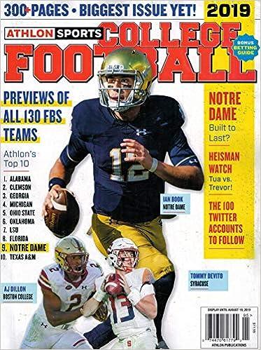 Athlon Sports College Football Magazine 2019 ( Cover varies ): Wall