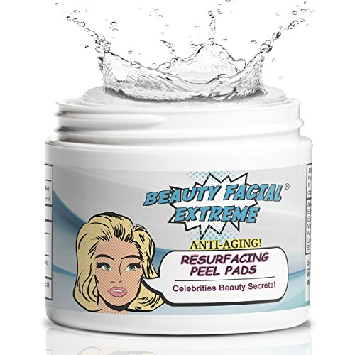Glycolic Exfoliation Wash - Anti Aging Resurfacing Peel Pads-Triple action chemical peel pads combined with Glycolic, Lactic, and Salicylic Acids. Smooth's fine lines, wrinkles, dark spots, and imperfections to enhance the skins texture and tone.