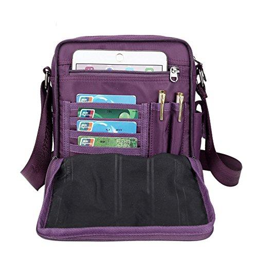 Violet De couleur Shoulder Toile Messenger Petit Travail Violet En À Bag Bandoulière Sac Élégant UUqgw7RFH
