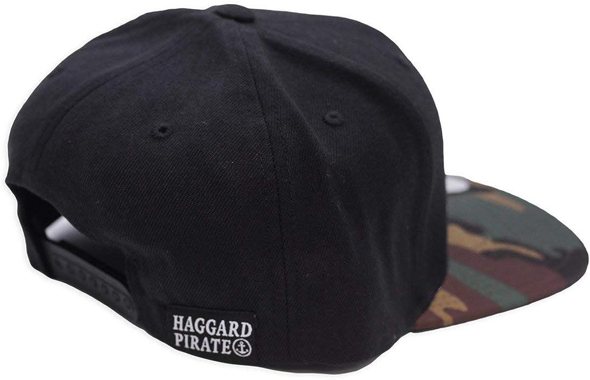 Haggard Pirate Mens Pirate Crest Snapback Hat