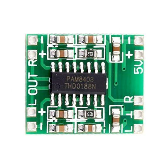 Salcon Electronics Digital Amplifier Audio Board Stereo Class D, 5V, 12V, 24V high Power (PAM 8403)