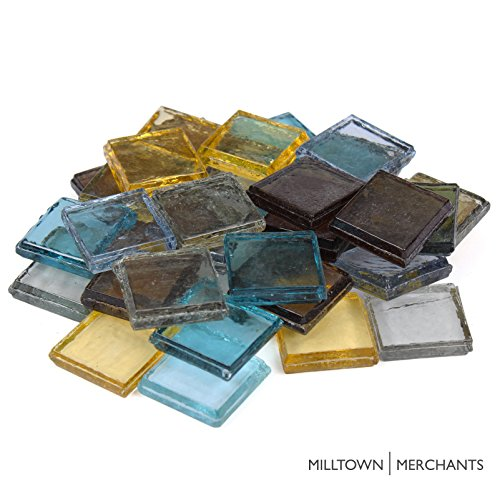 Milltown Merchants™ 7/8″ (22mm) Glass Mosaic Tile Assortment, 1 Pound (48 oz) Bulk Assortment of Mosaic Tile3