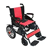 2018 New Model Culver Electric Wheelchair - Best Foldable Lightweight Best Heavy Duty Lithium Battery Electric Power (Red)