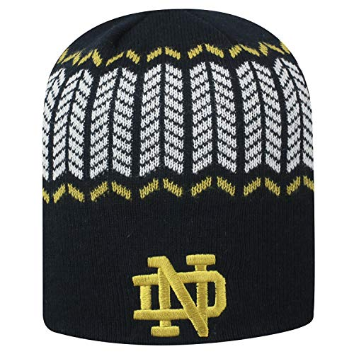 (Top of the World Notre Dame Fighting Irish Official NCAA Uncuffed Knit Sports Stripe Hat 744766)