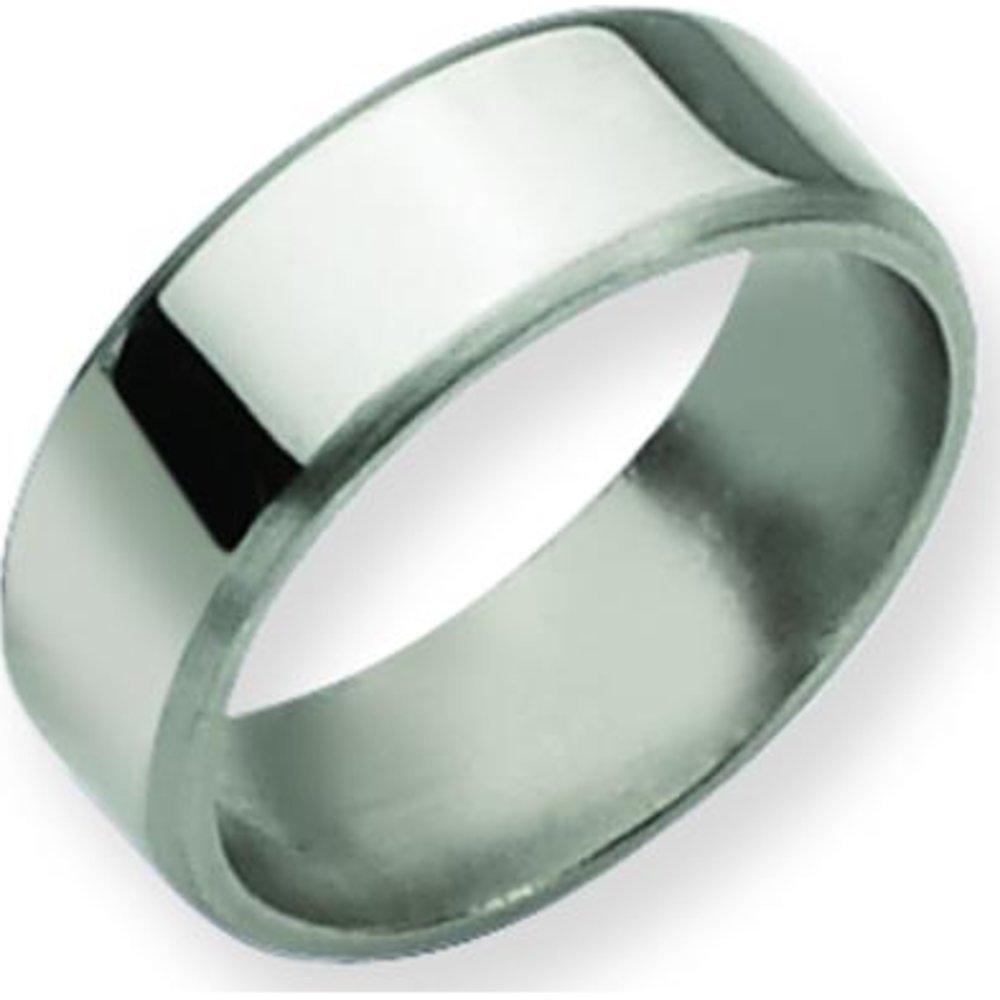 Titanium 8mm Brushed Mens Wedding Ring Band Size 11