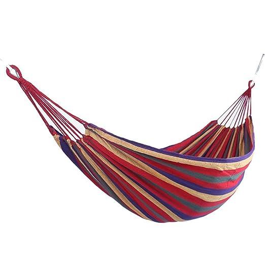Eroihe Hamaca para Camping Jardín al Aire Libre Hamaca de Lona de ...
