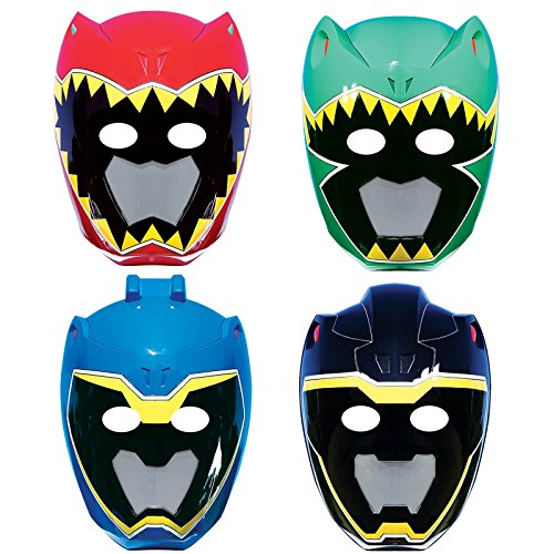 American Greetings Power Rangers Dino Charge Masks (8 Count) (Power Ranger Costume Blue)