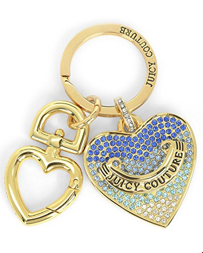 Juicy Couture WJW748 Crystal Ombre Heart Large Keyfob Bag
