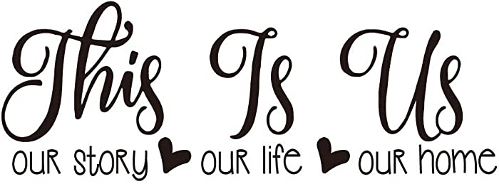 This is Us Our Story Our Life Our Home Family Wall Decal Love Quote Vinyl Wall Lettering Home Décor