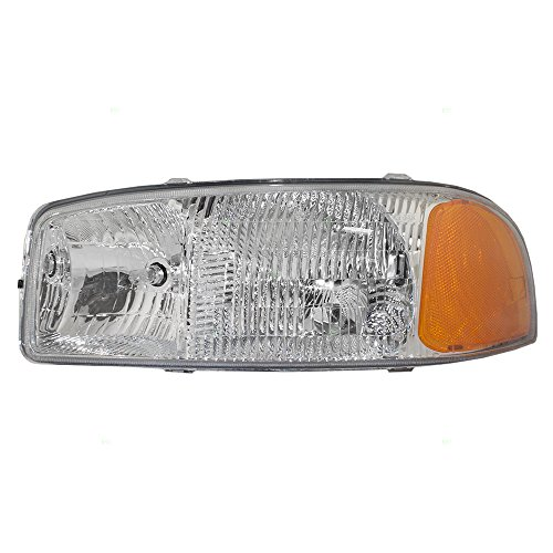 (Drivers Headlight Headlamp Replacement for GMC Pickup Truck SUV 15850351 AutoAndArt)