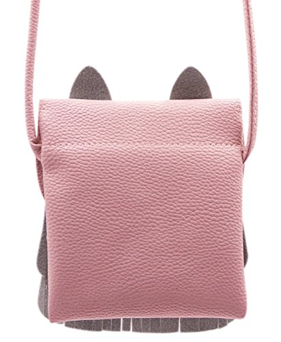 3X5 4 Shoulder 1in Cat for Messenger pink Tassel 5 or 15 Kids 5 9in Bag A 1 Satchel Purse Coin 9in Bag Small Crossbody Girls 5 Cute Mini 1HRwxE1