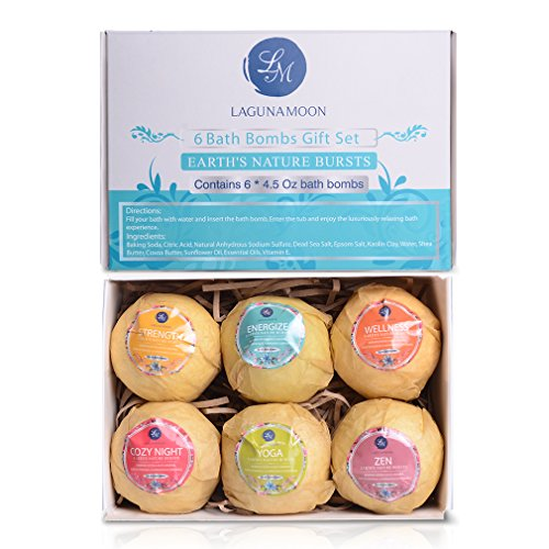 Bath-Bombs-Kit6-Organic-Essential-Oil-Bath-Bombs-Spa-Fizzies-Thanksgiving-DayMother-DayBirthday-Gift-Set