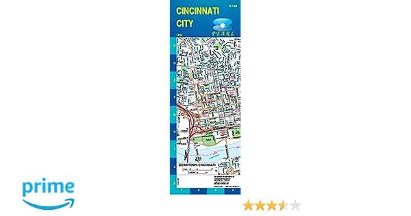 Cincinnati, OH Street Pearl Map (Laminated): GM Johnson ... on