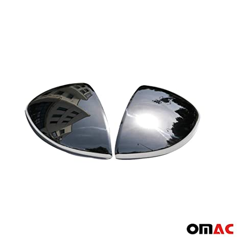 SHIN YO 2 pezzi Copri specchietto in acciaio INOX cromato