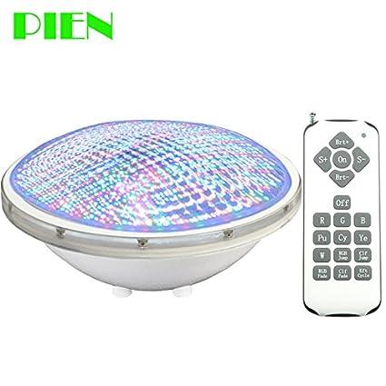 Amazon.com: RGB, 24W : Underwater Lights IP68 LED Piscina Par56 ...