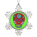 LittleTime Mexican Dia De Los Muertos Xmas Trees Decorated Cool Snowflake Ornaments