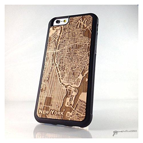 half off fdb4b eeb57 Amazon.com: New York, NY Yankees Wood Map Phone Case for iPhone 7 ...