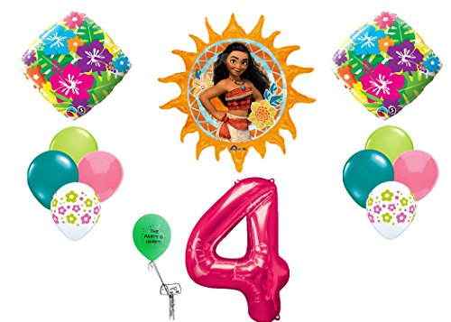 Disney Moana Decoration Happy Birthday # 4 Balloon Kit - Moana Ala Store