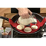 CuOmix Pancake Maker Tool Silicone Omelette Eggs Fixator Cooking Mold