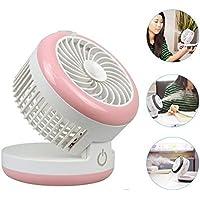 Misting Mini Fan,NUTK 3 in 1 Fan+Humidifier+Power Bnak,Portable Desktop Rechargeable USB Desk Cooling Fans ,Personal Water Spray Fan for Girls Womens Office.Pink