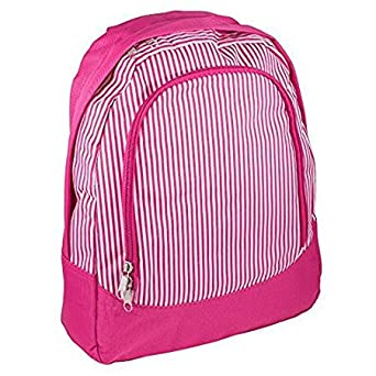 e2a5645e13 Fashion Print Preschool Backpack - Personalization Available! (Personalized  Pink Pinstripe)