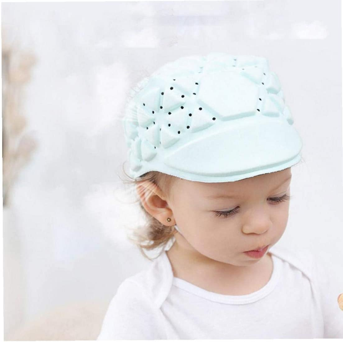 Baby Toddler Hat Baby Protector Head Breathable Toddler Impact Proof Helmet with Adjustable Straps Safety Protective Cap for Infant Learns to Walk Green