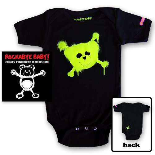 Price comparison product image Rockabye Baby! Lullaby Renditions of Pearl Jam + Organic Baby Bodysuit (Green)