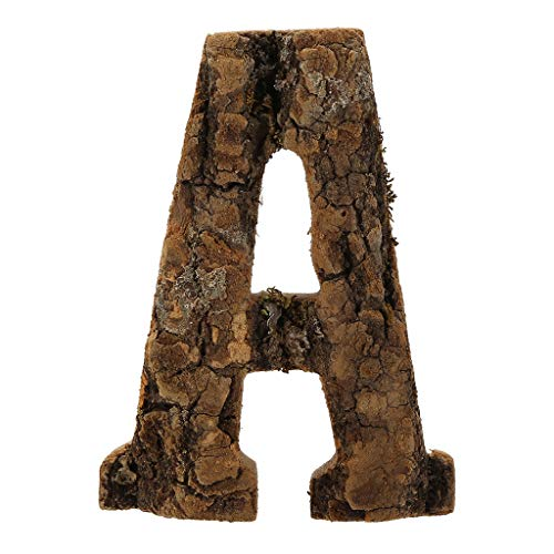 Clearance Sale!DEESEE(TM)Natural Wooden 26 Marquee Letter Alphabet Name Sign for Wedding Home Party (A) (Country Bedrooms)