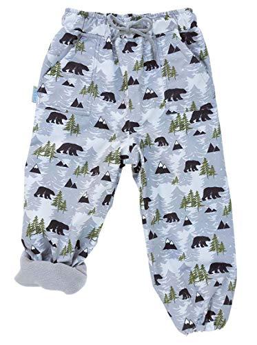 JAN & JUL Kids Water-Proof Fleece-Lined Rain Pants (Fleece-Lined: Bear, 6T) ()