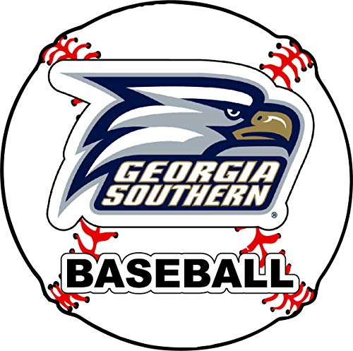 R and R Imports Georgia Southern Eagles 4-Inch Round Baseball Vinyl Decal Sticker (Baseball Eagles Southern)