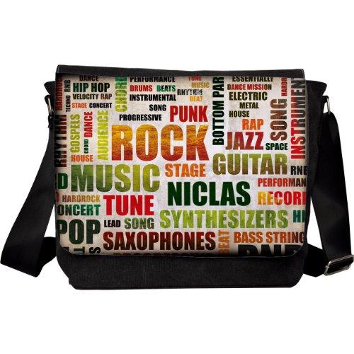privatewear Umhängetasche Motiv Rockmusik mit Name: Niclas