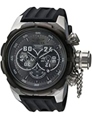 Invicta Mens Russian Diver Quartz Stainless Steel and Silicone Casual Watch, Color:Black (Model: 21629)