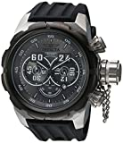 Invicta Men's 'Russian Diver' Quartz Stainless Steel and Silicone Casual Watch, Color:Black (Model: 21629)