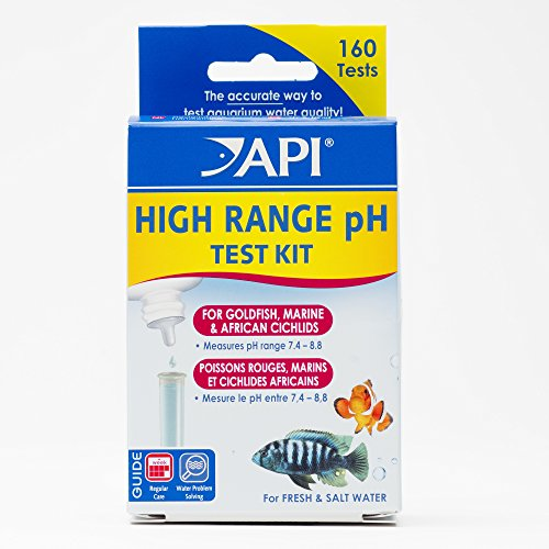 API HIGH RANGE PH TEST KIT 160-Test Freshwater and Saltwater Aquarium Water Test Kit ()